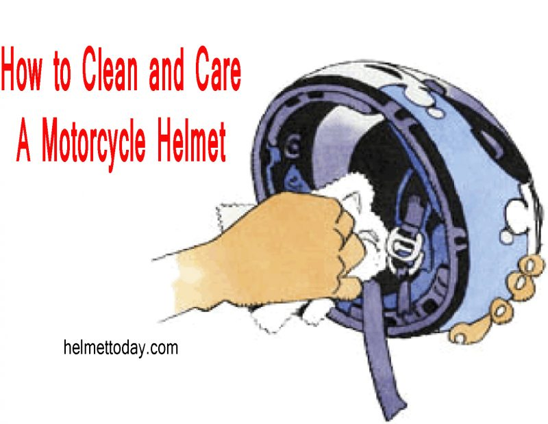 clean Motorcycle Helmet