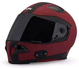 Quin Spitfire Rosso Bluetooth Integrated Smart Helmet with Crash detection