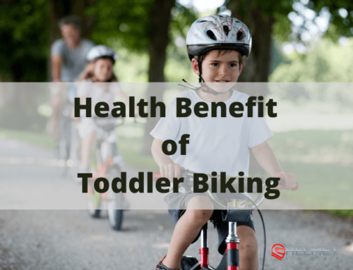 What is the health benefit of toddler biking?