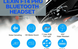 LEXIN FT4 Pro 4-Way Motorcycle Bluetooth Headset